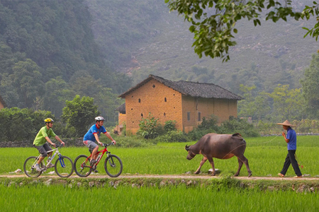 Biking in Picturesque Guilin